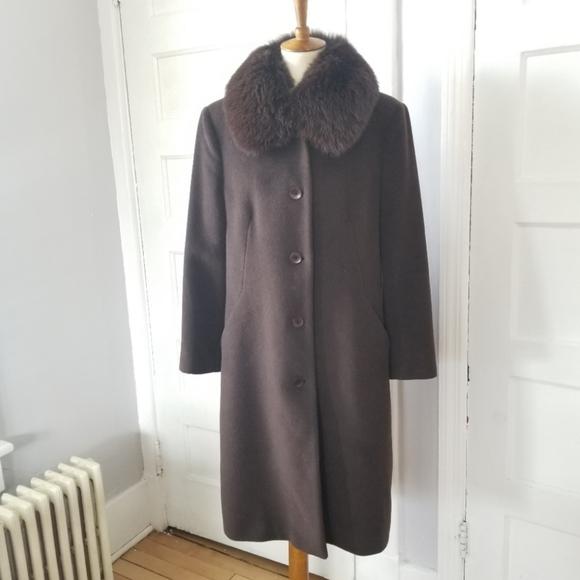 Albert Nipon Jackets & Blazers - Albert Nipon Wool Coat With Real Fox Fur Collar